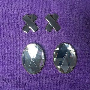 Vintage Silver Shoe Clips (2)